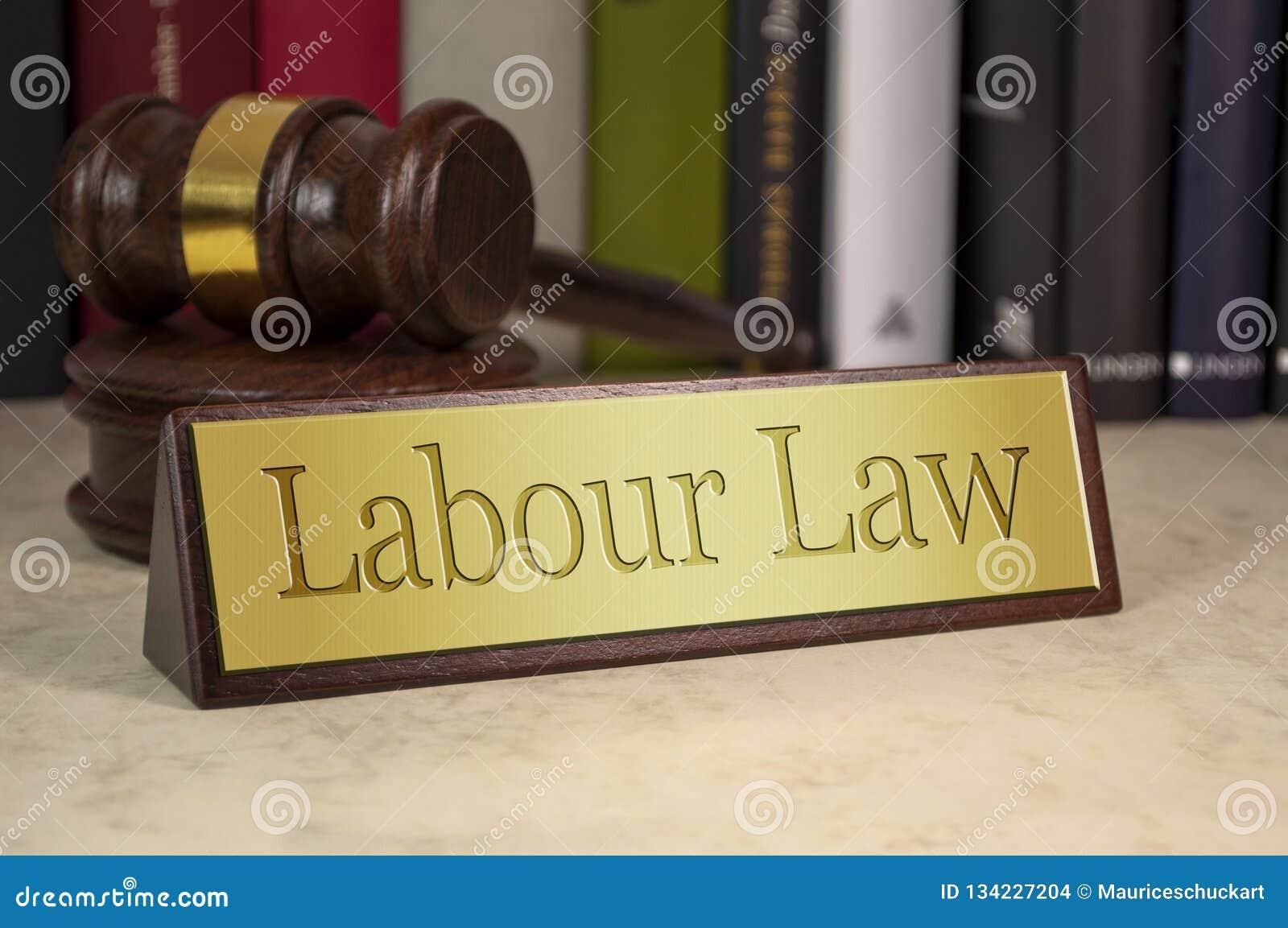 与劳工法的金黄标志