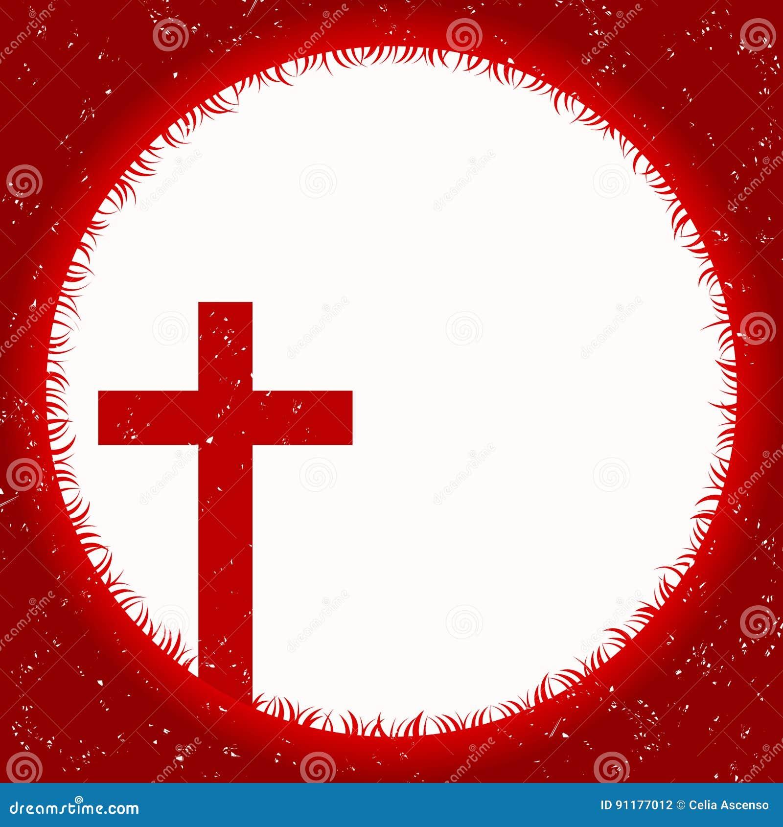 与十字架的血液月亮