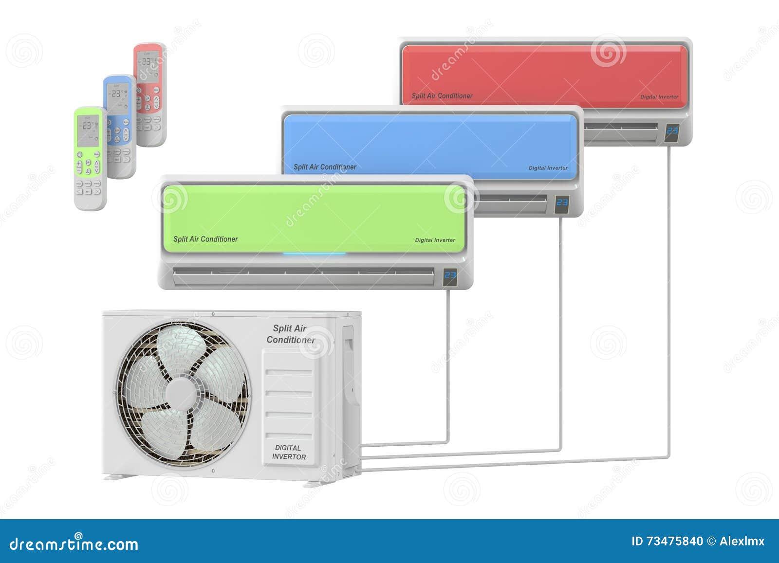 与单位的现代空调器系统和遥控