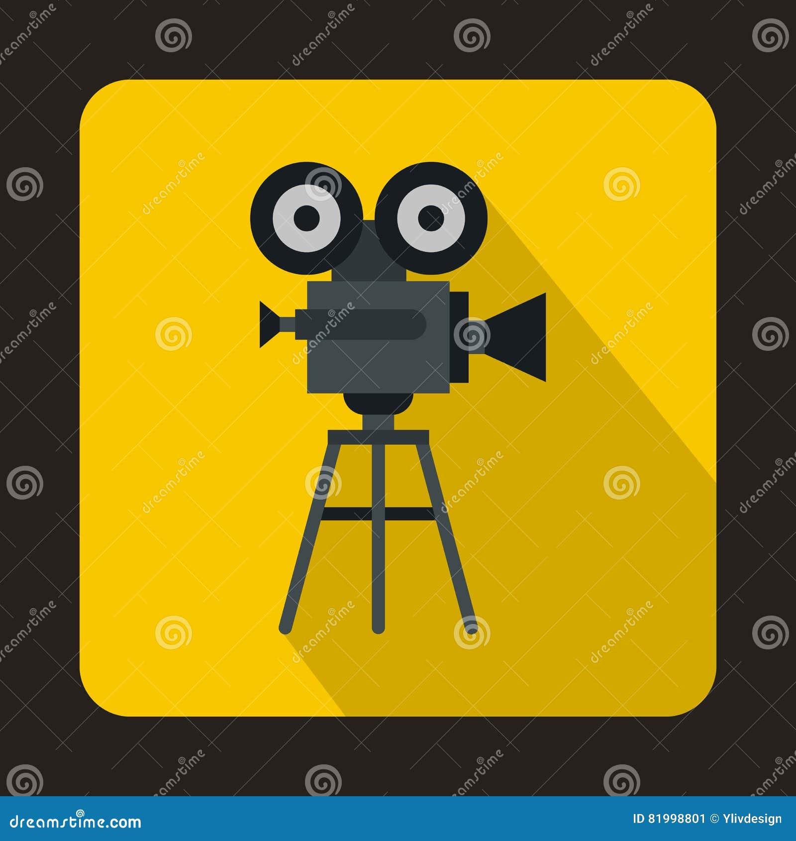 与卷轴象,平的样式的老电影摄影机