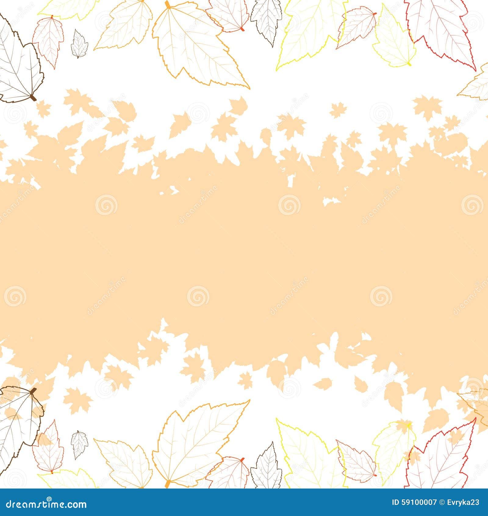与叶子的秋天背景