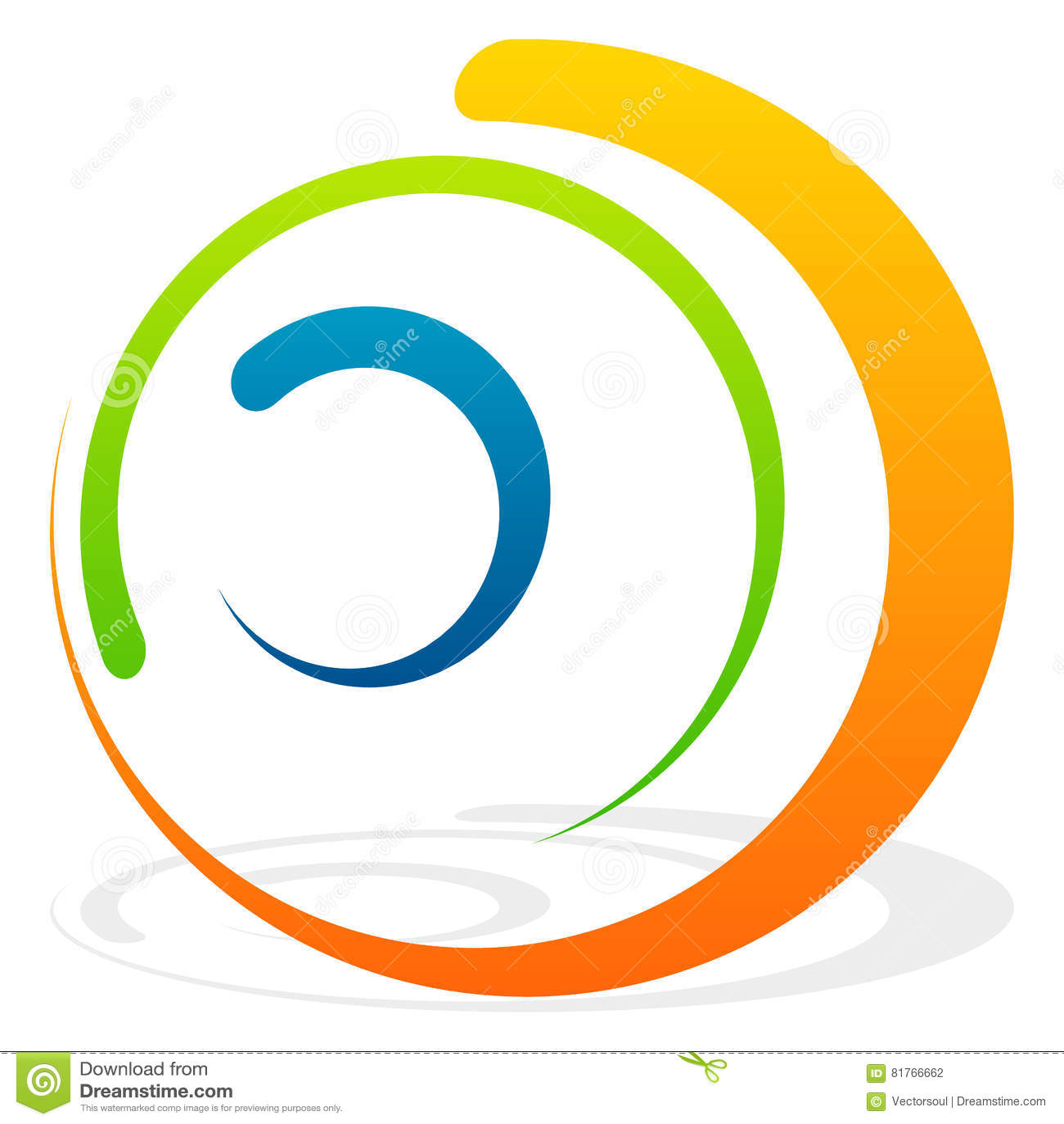 与同心圆的螺旋元素 抽象装饰elem