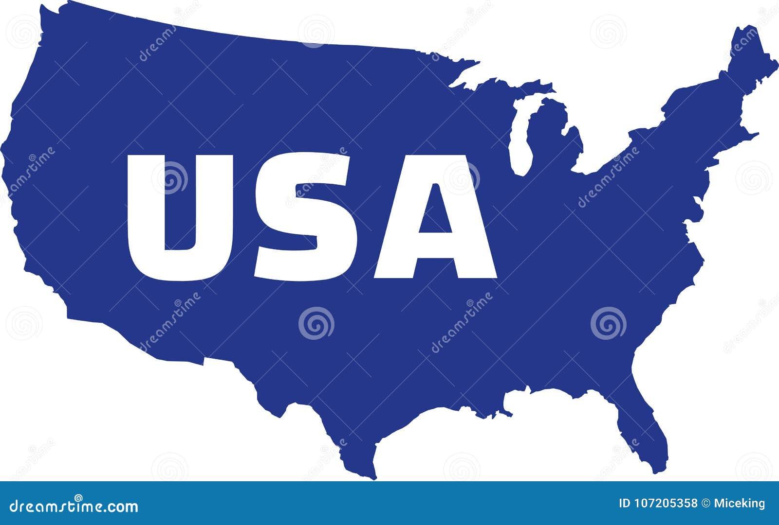 与名字的美利坚合众国地图