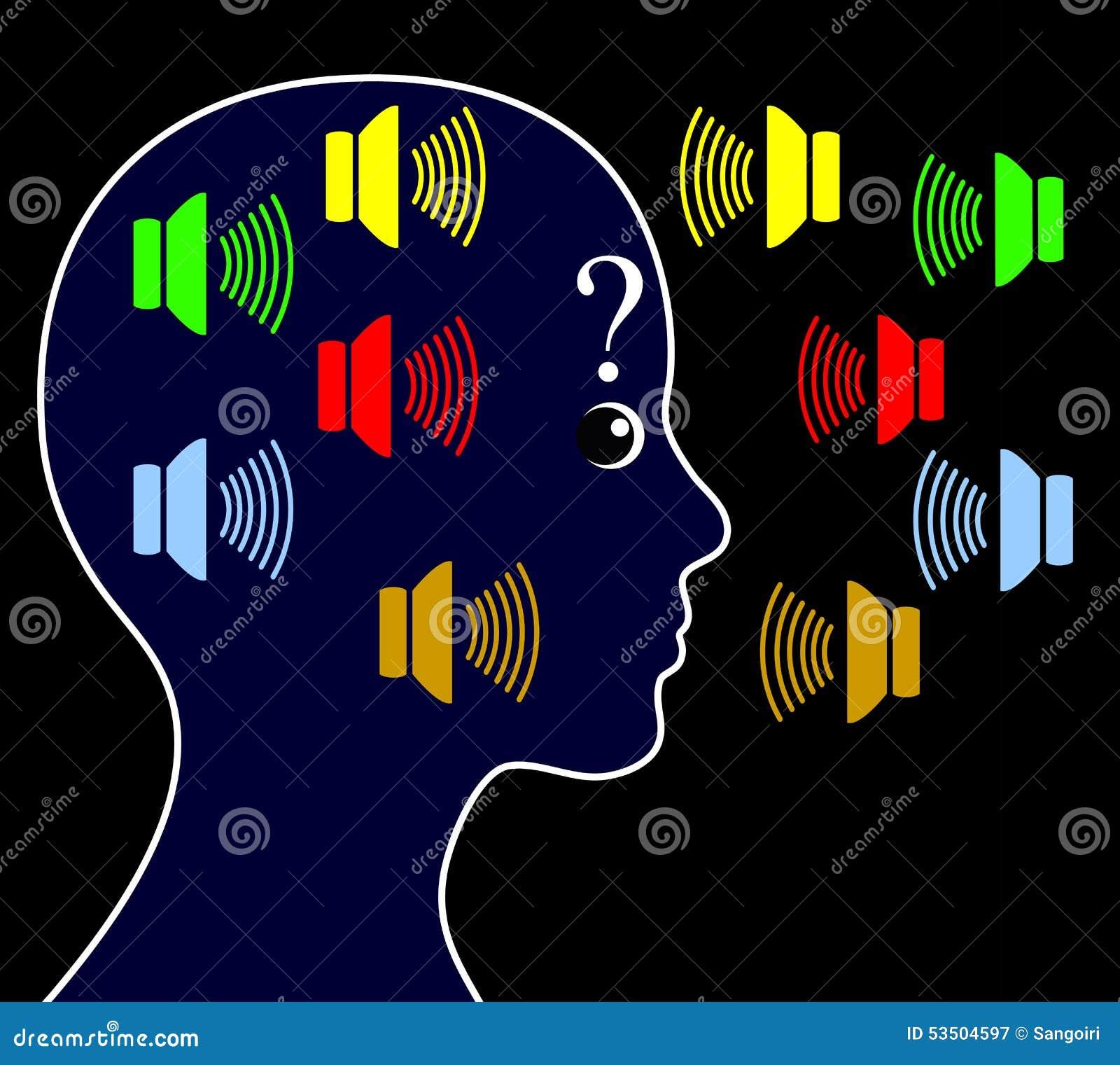 与听力声音的精神分裂症
