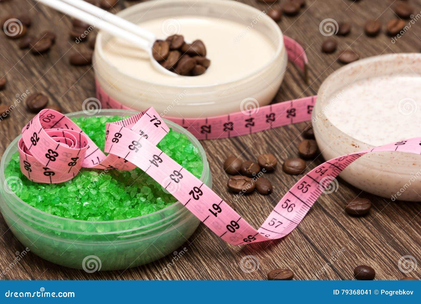 与咖啡因的反脂肪团化妆产品