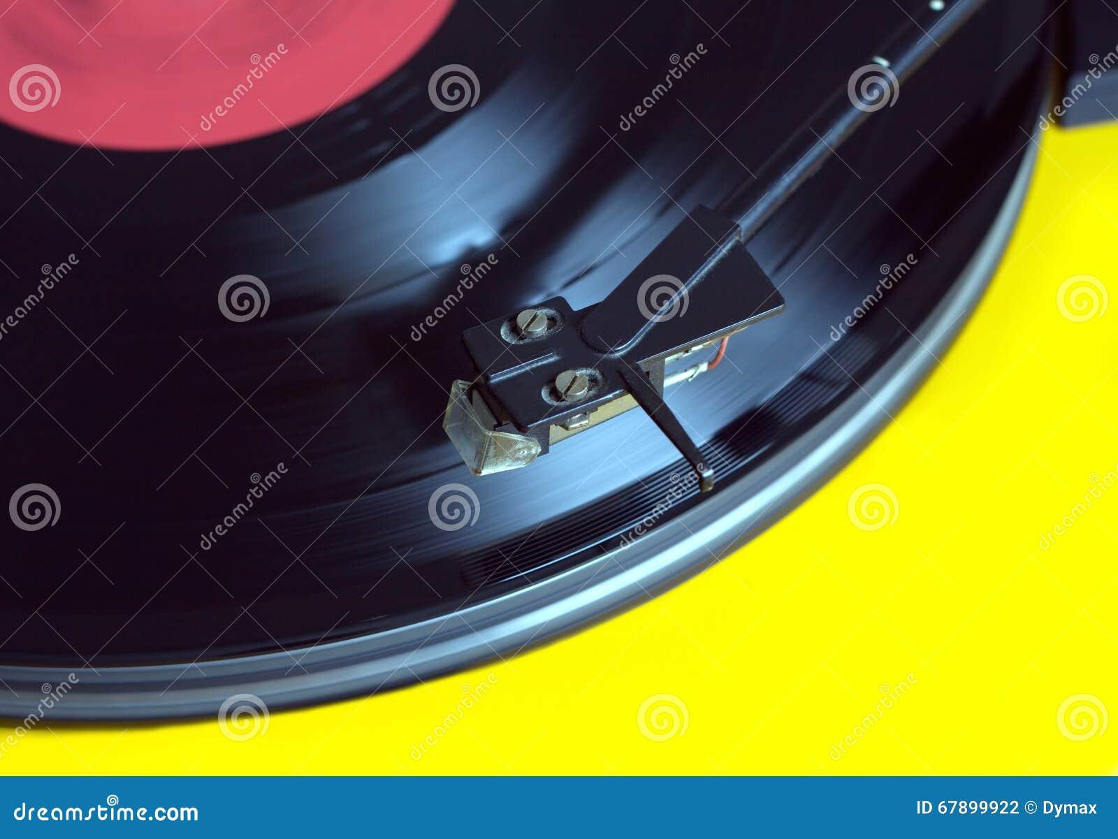 与唱片特写镜头的转盘