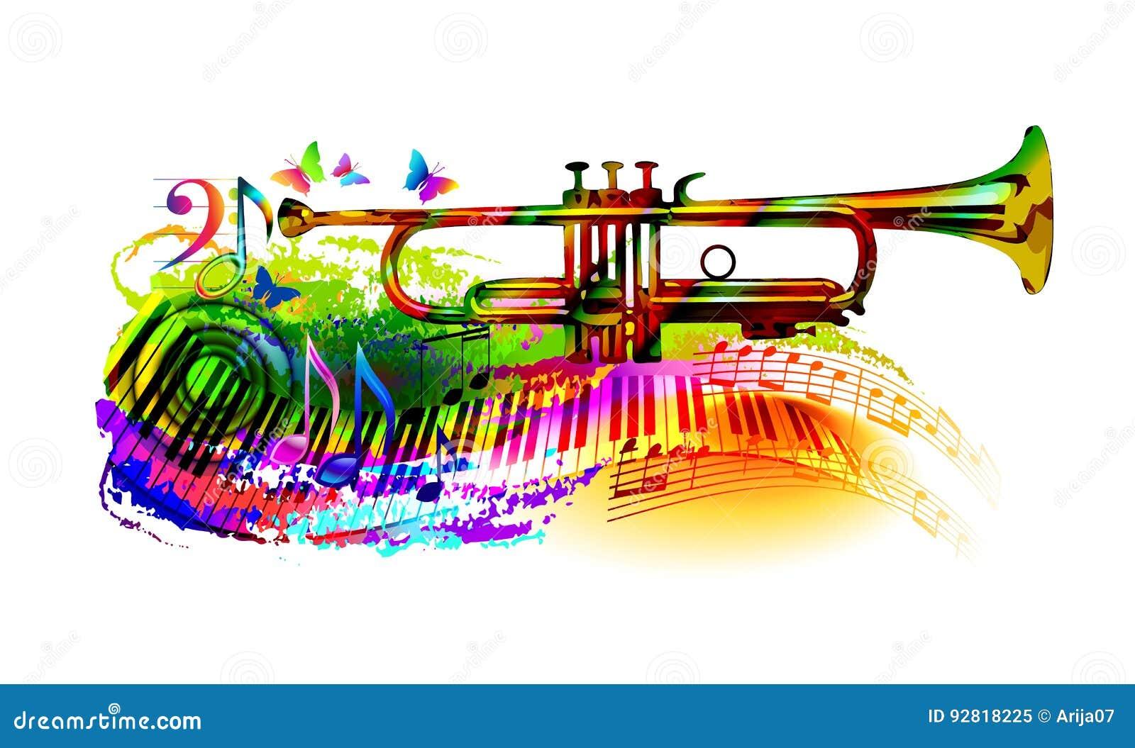与喇叭的音乐背景