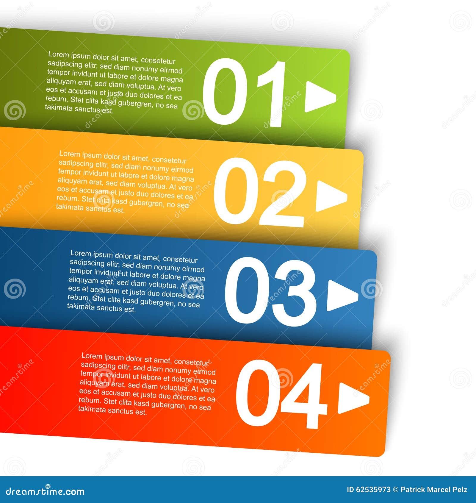 与四个选择的信息图表