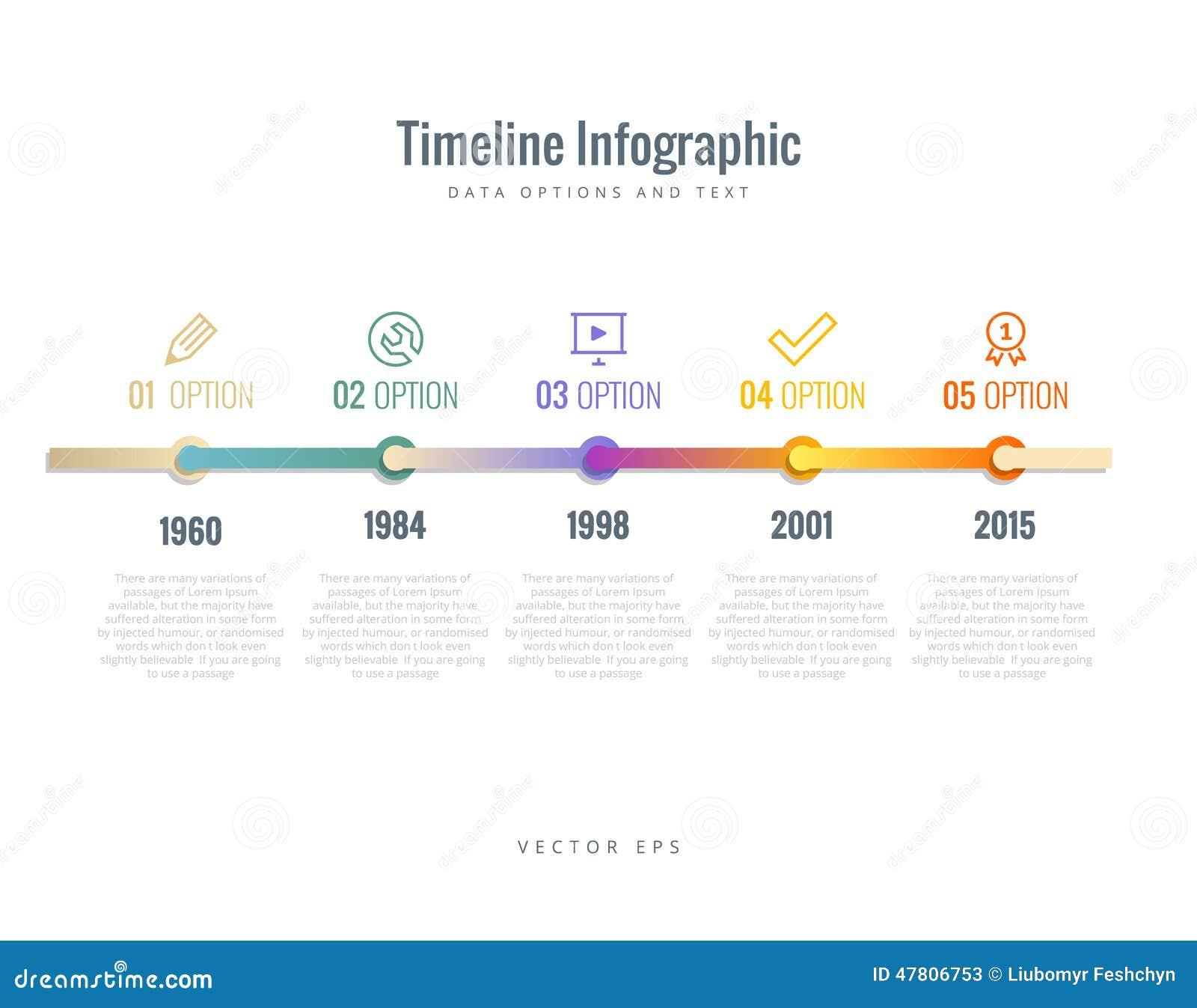 与图、选择和文本的时间安排Infographic