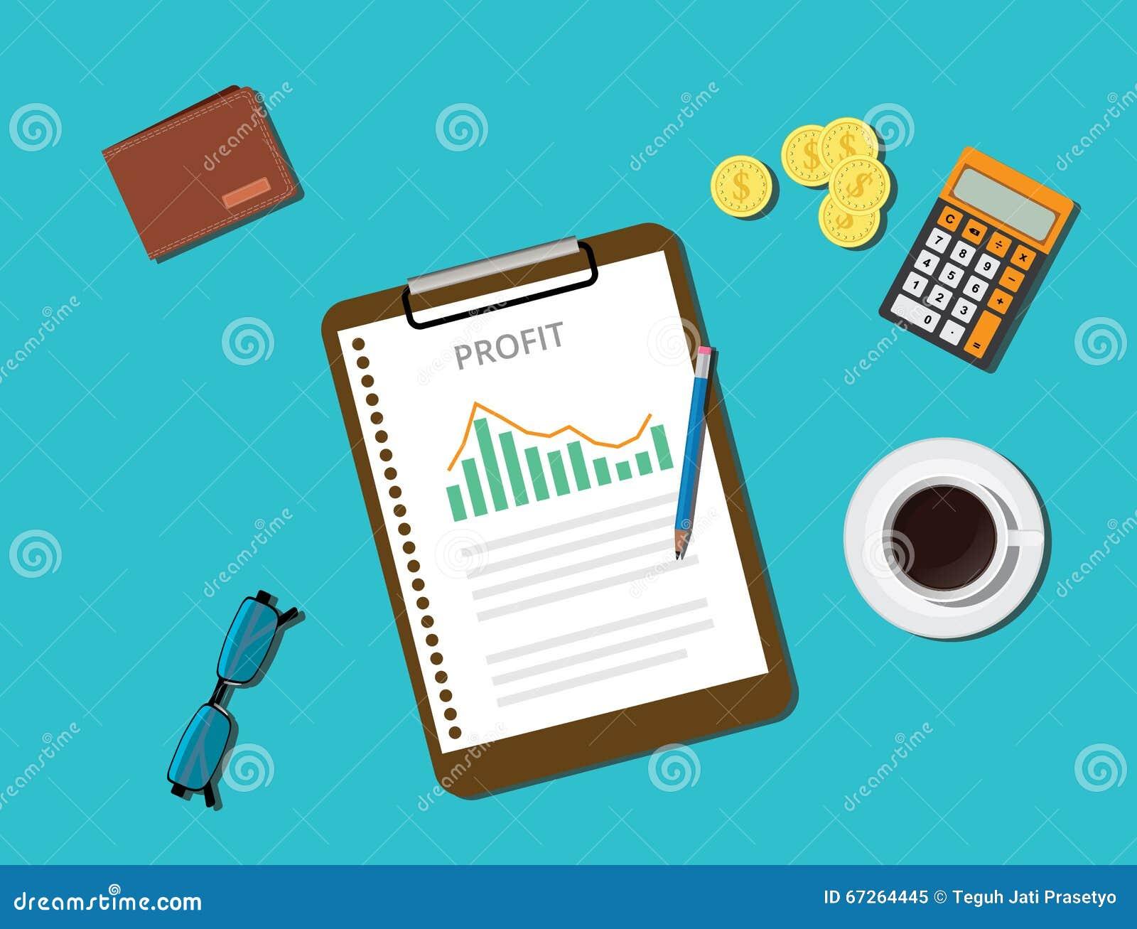 与图表文件剪贴板金币咖啡钱包的营业利润