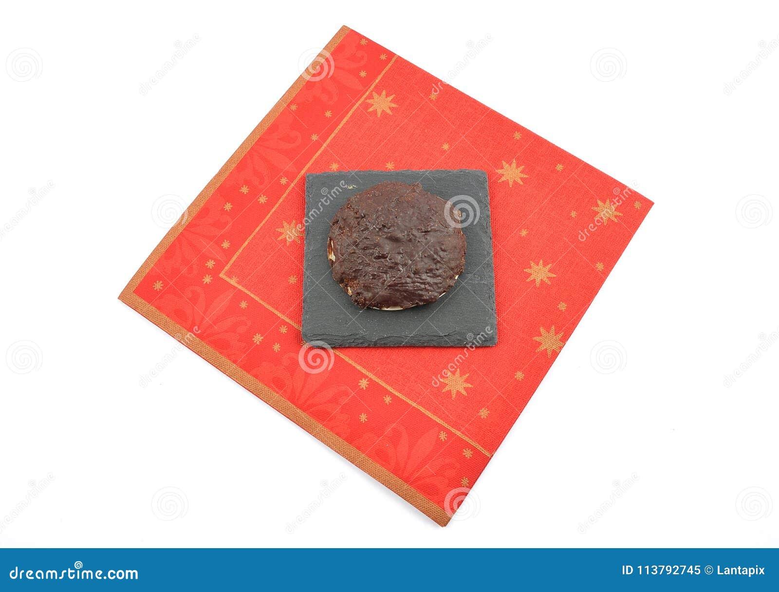 与圣诞节餐巾的德语Lebkuchen