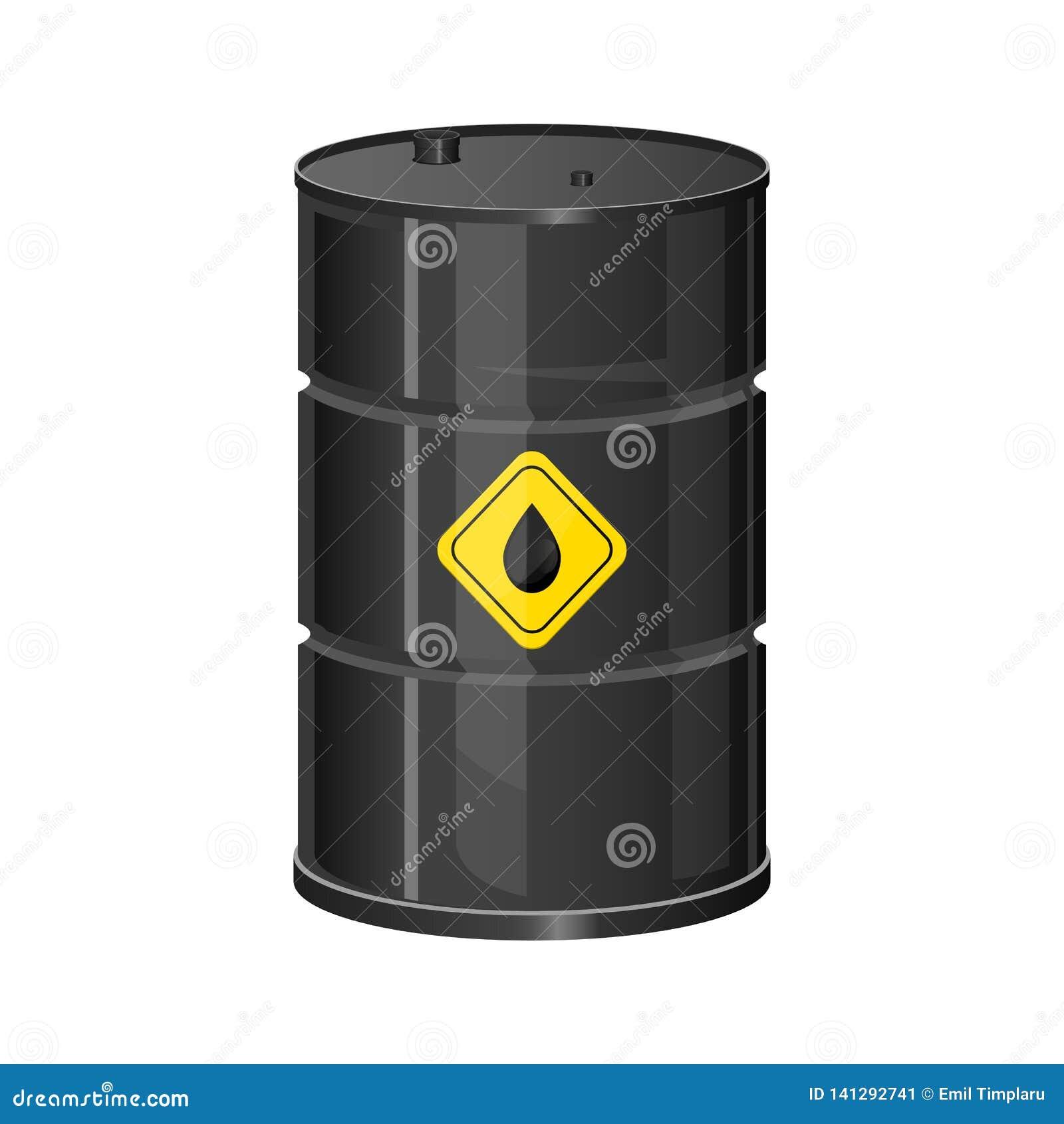 与在白色背景隔绝的黄色标签传染媒介设计例证的油battel