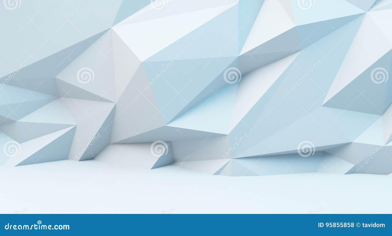 与多角形样式的抽象白色背景 3d柜栏图象牌照