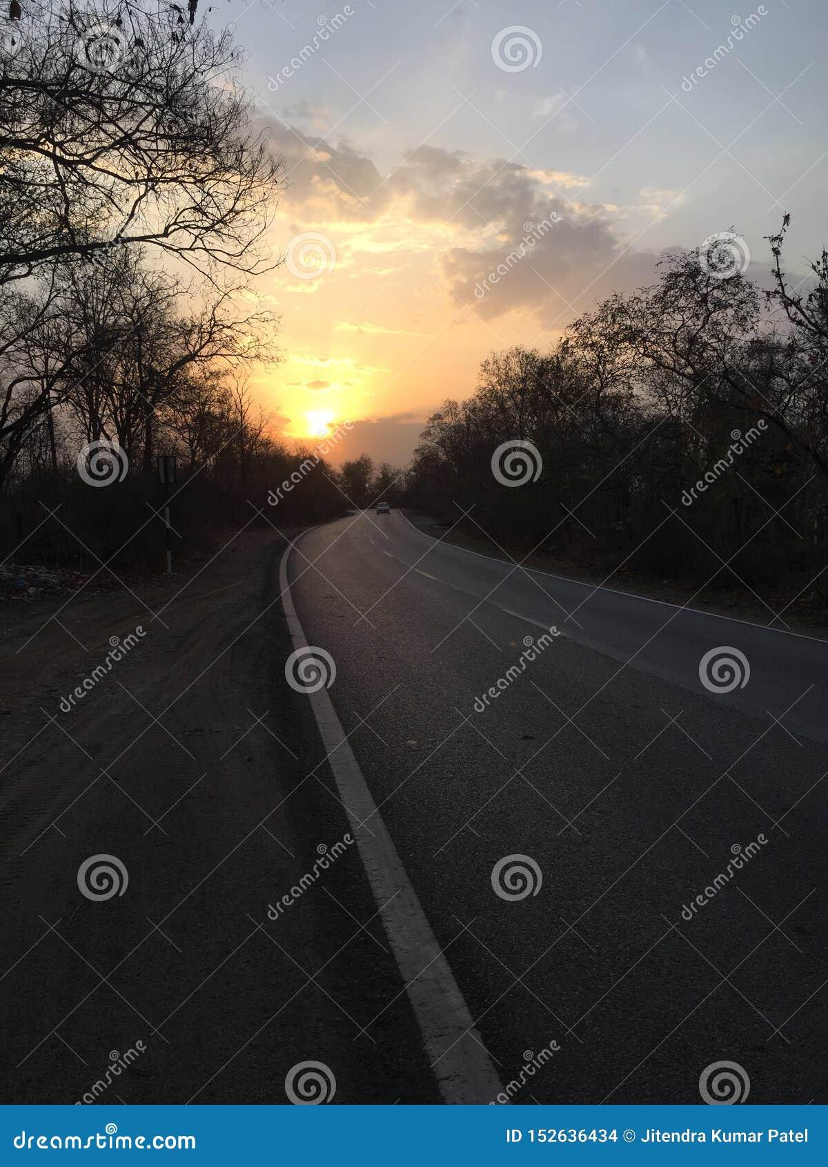 与太阳上升的印度狂放的秀丽