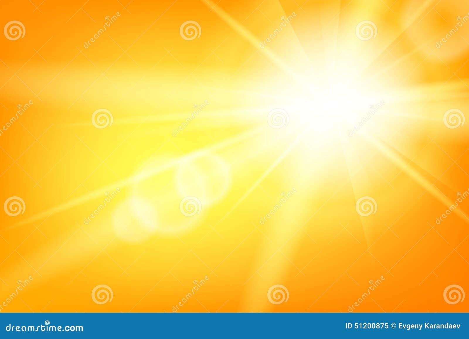 与太阳的自然晴朗的抽象夏天背景