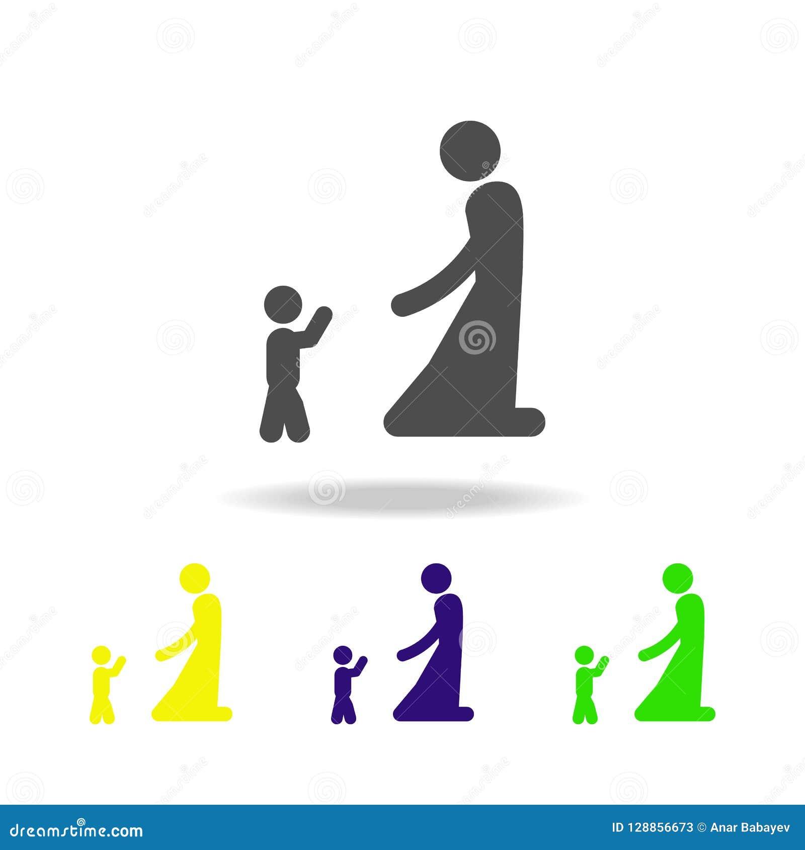 与婴孩多颜色象的母亲戏剧 旅行象的元素流动概念和网apps的,可以为网和机动性使用 P