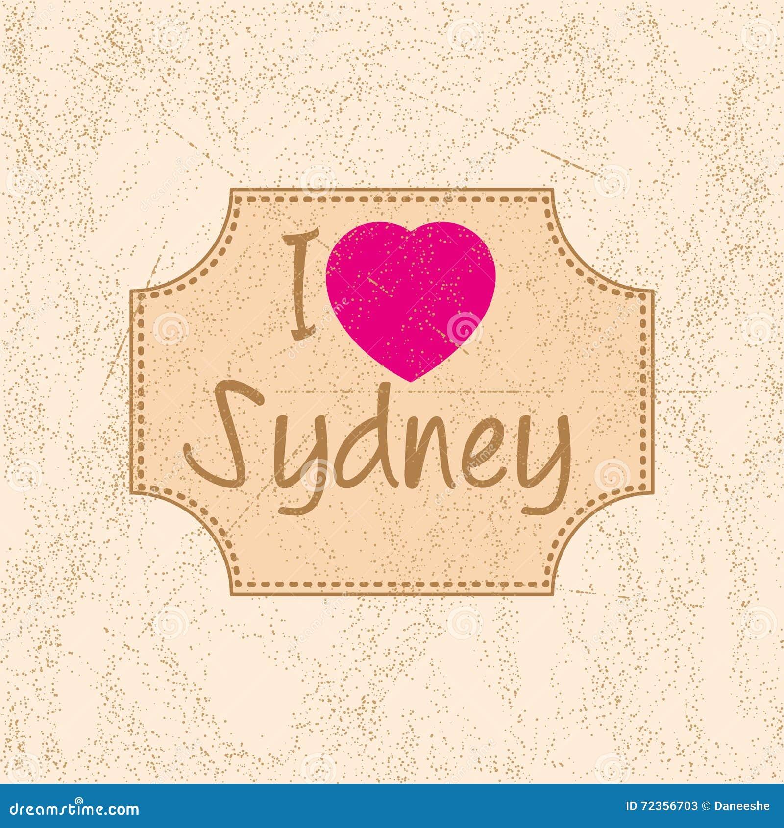 与字法的印刷品我爱悉尼