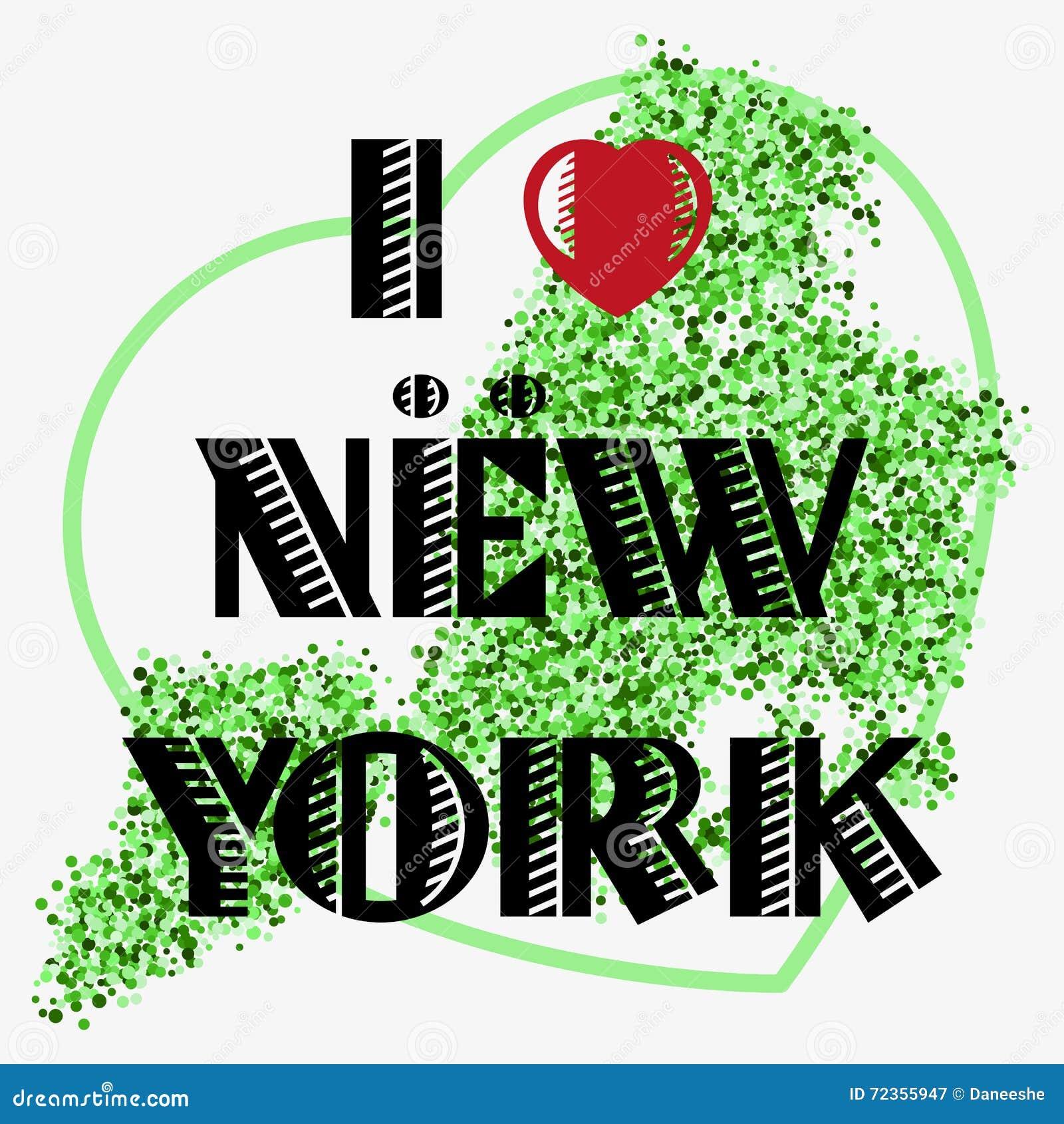 与字法的印刷品我爱NY