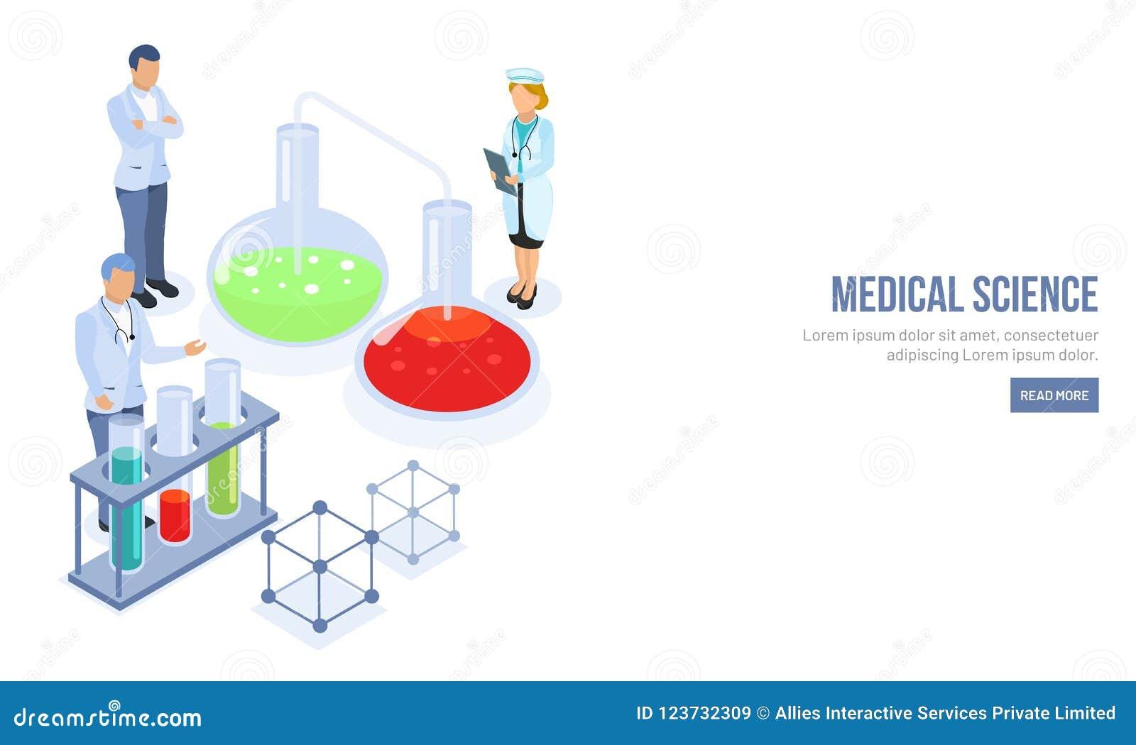 与字符的医学敏感着陆页设计