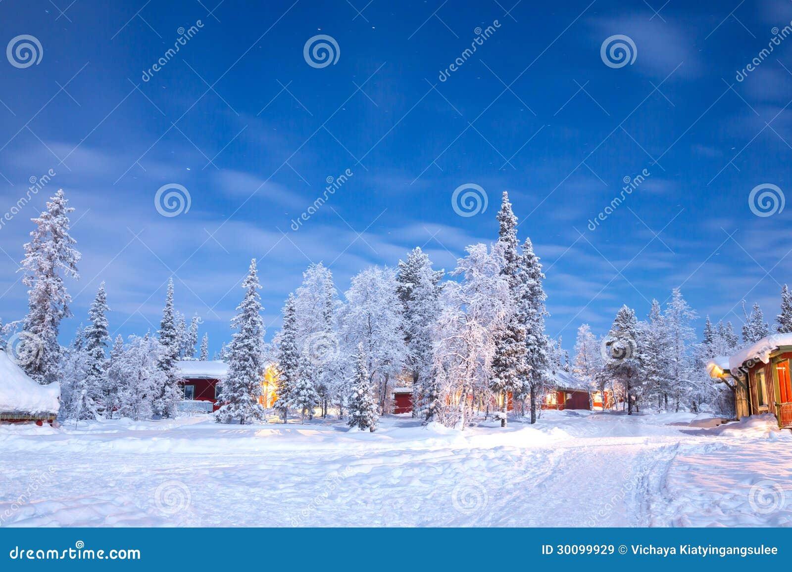 冬天风景瑞典拉普兰