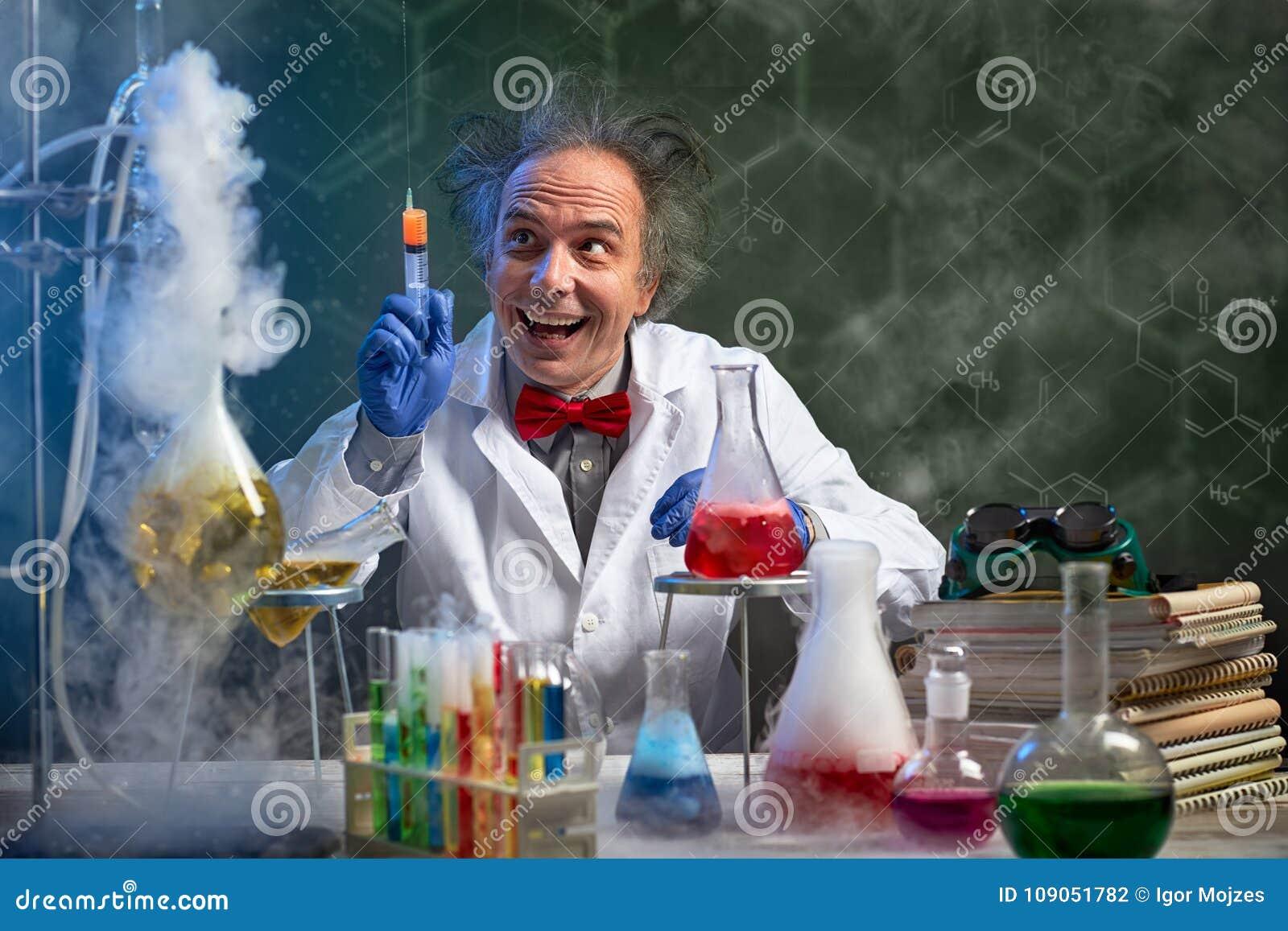 与射入的疯狂的化学