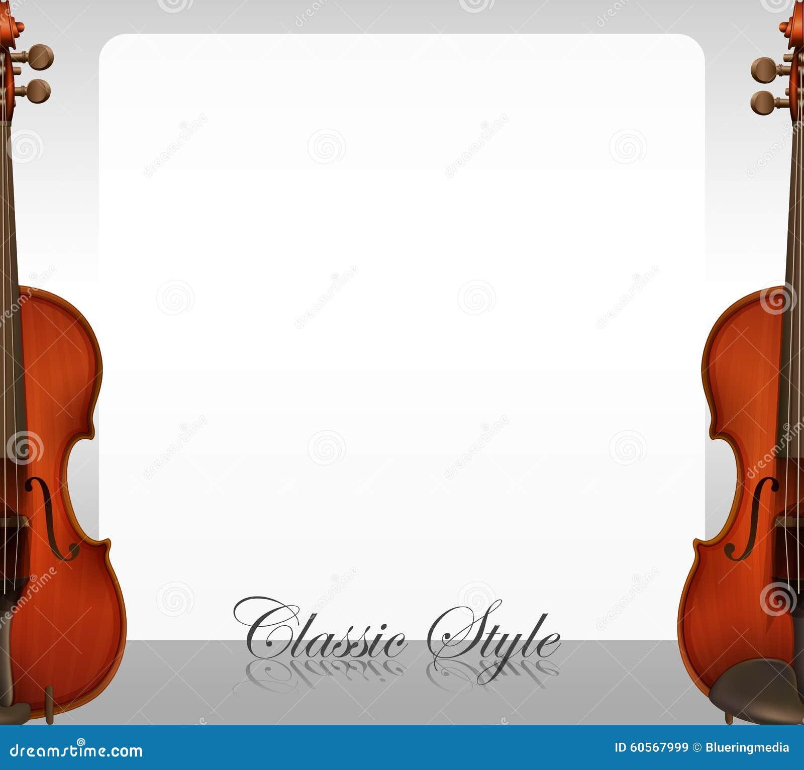 与小提琴例证的边界设计.图片