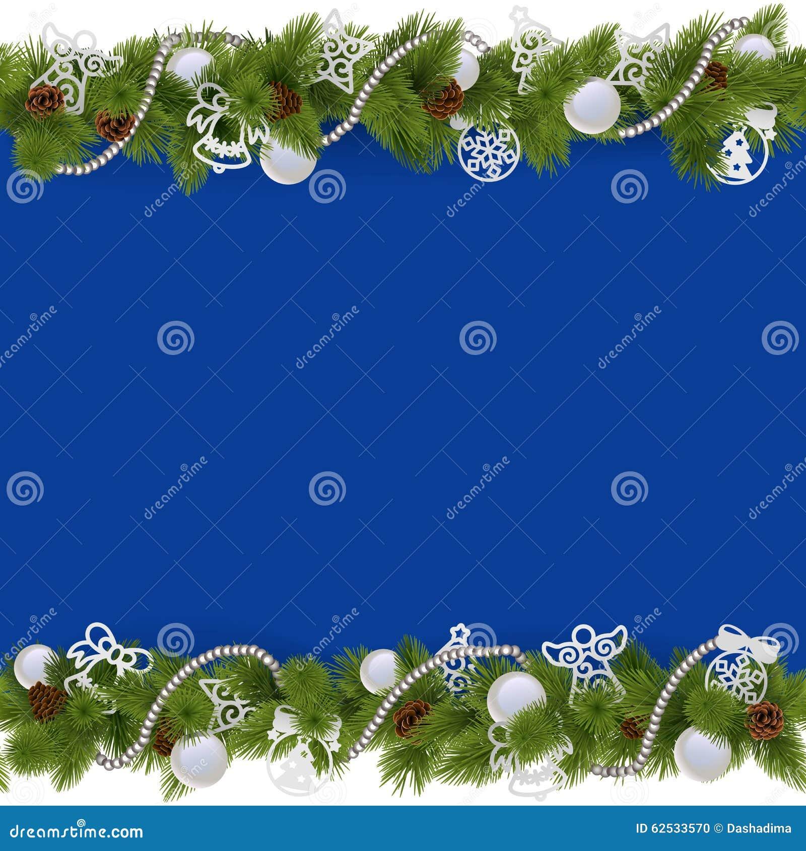 与小珠的传染媒介蓝色圣诞节边界