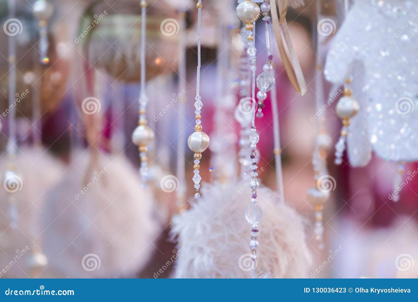 与小珠的抽象圣诞节背景 新年逗人喜爱的纹理