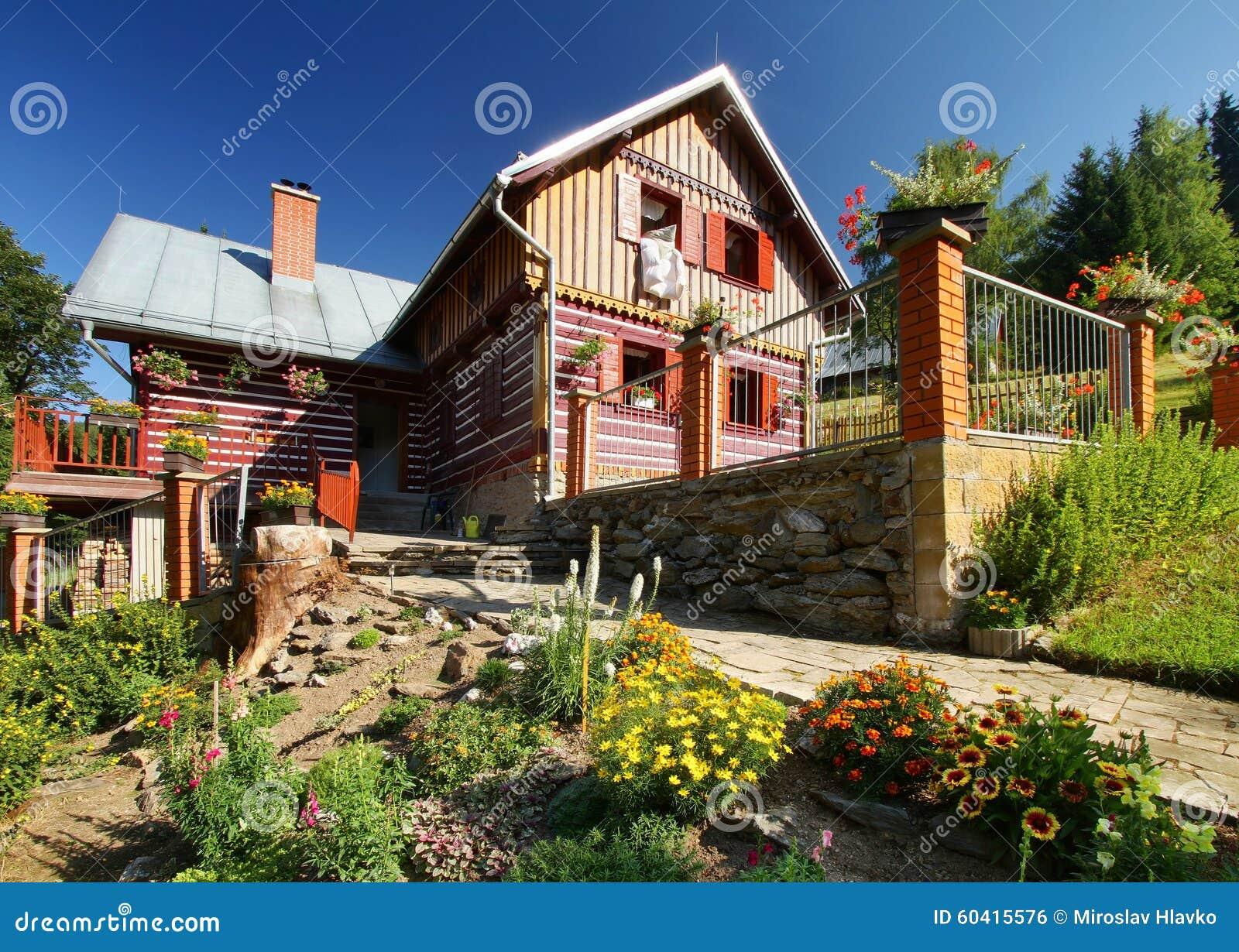 与庭院的村庄