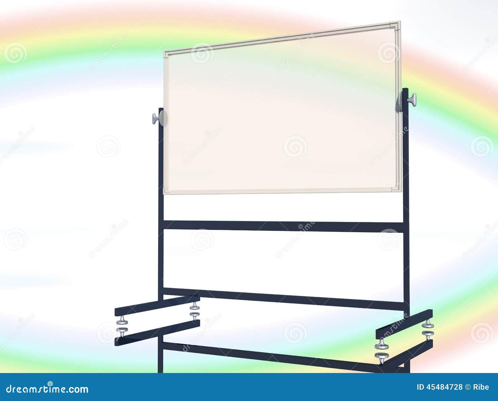 与彩虹天空的空白的校务委员会