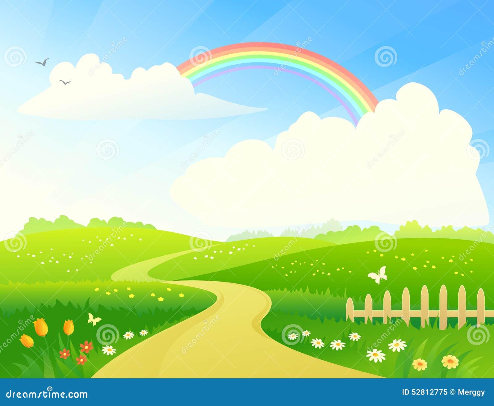 与彩虹的风景
