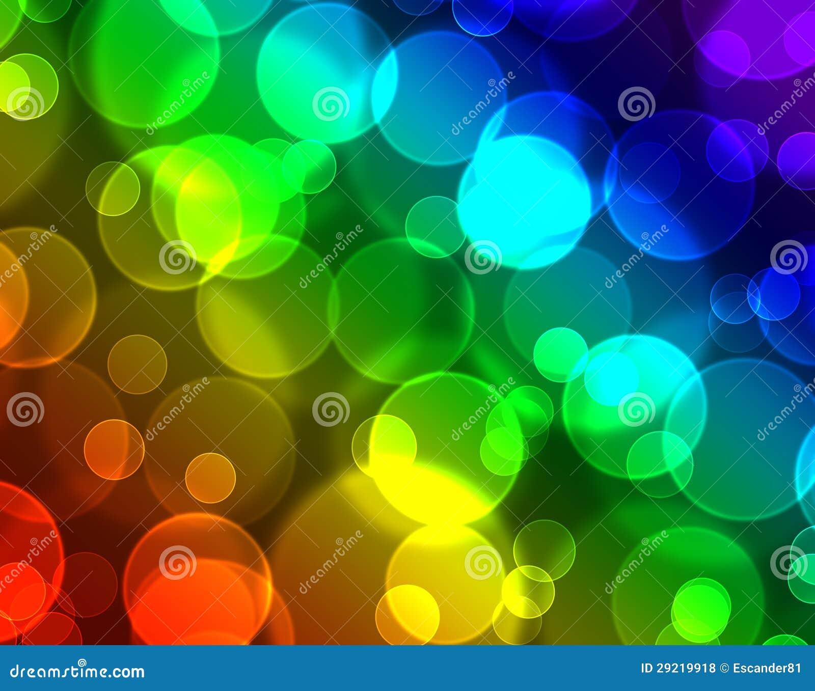 与彩虹speckrum的五颜六色的bokeh