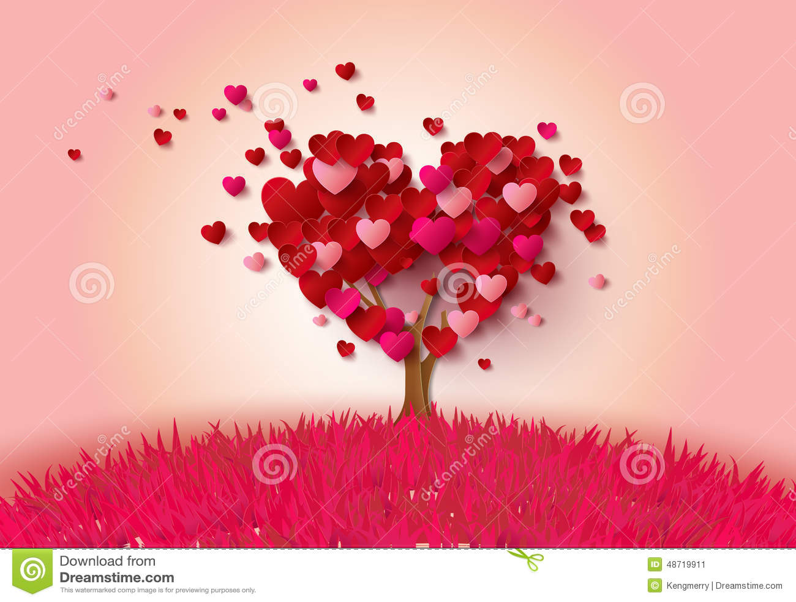 与心脏叶子的爱护树木