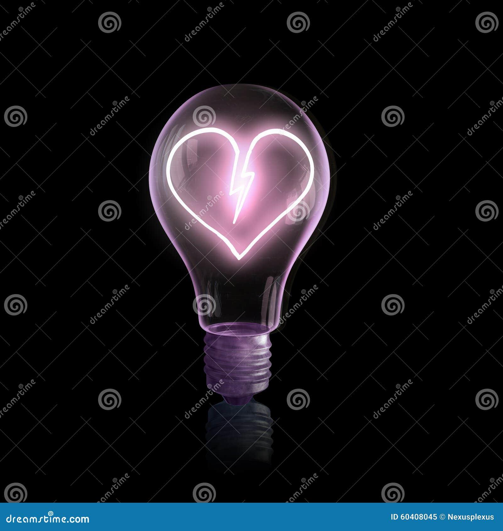 与心脏的电灯泡