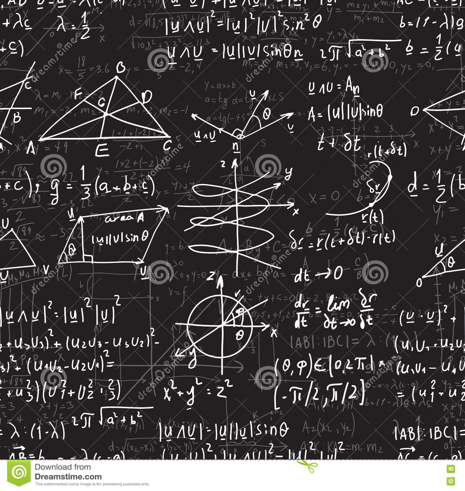 与惯例的传染媒介数学无缝的纹理