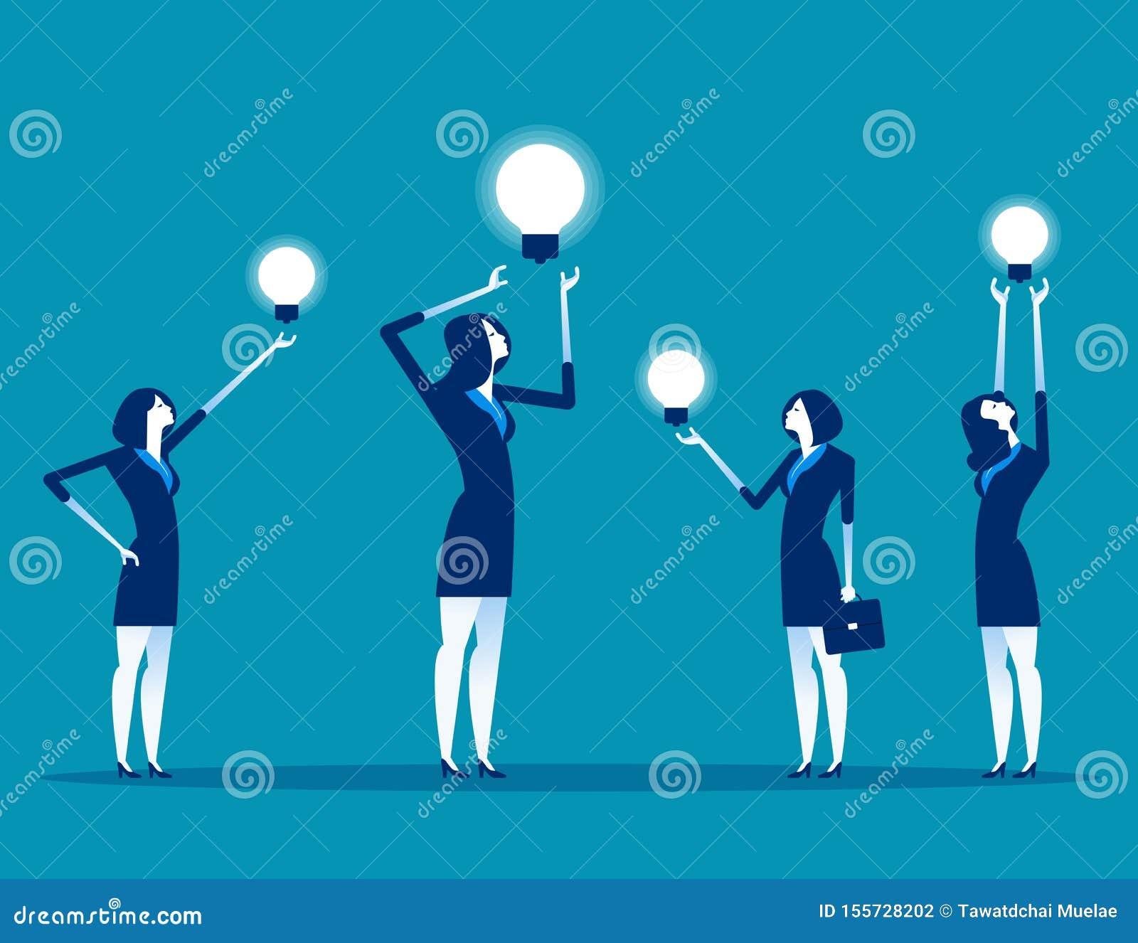 与想法工作的企业队 概念企业传染媒介例证,配合,办公室工作者