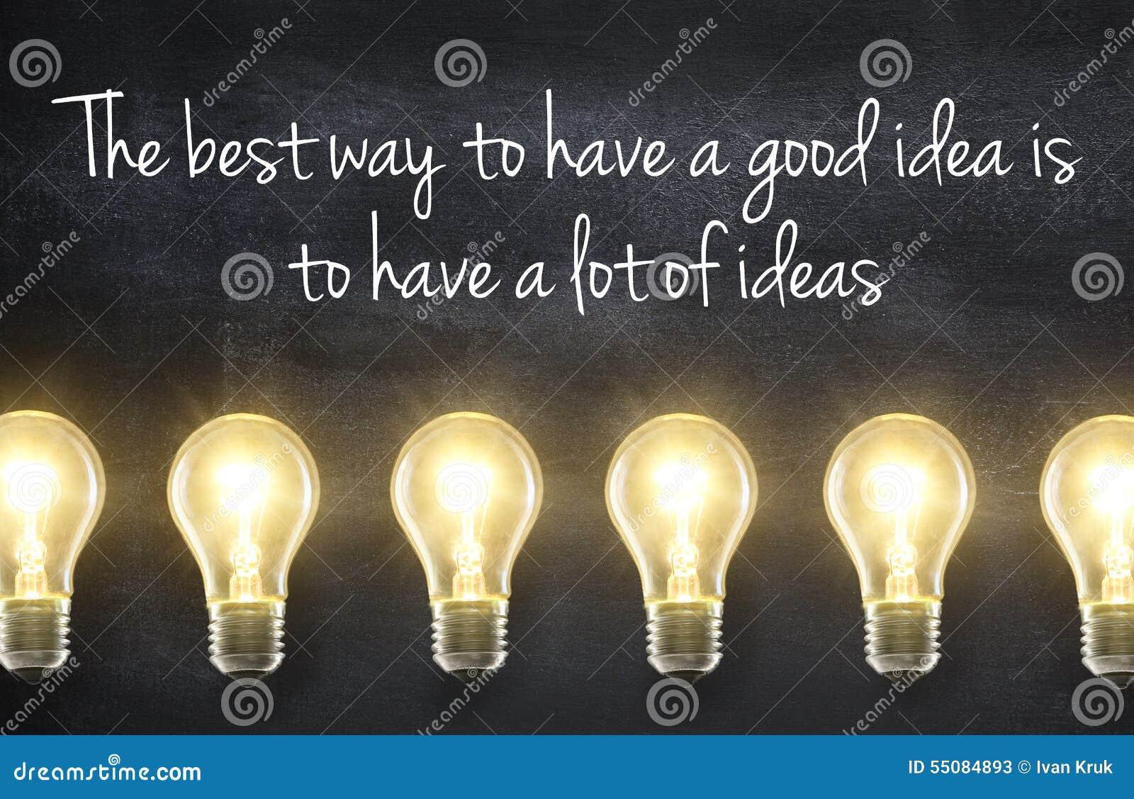 与想法行情的电灯泡