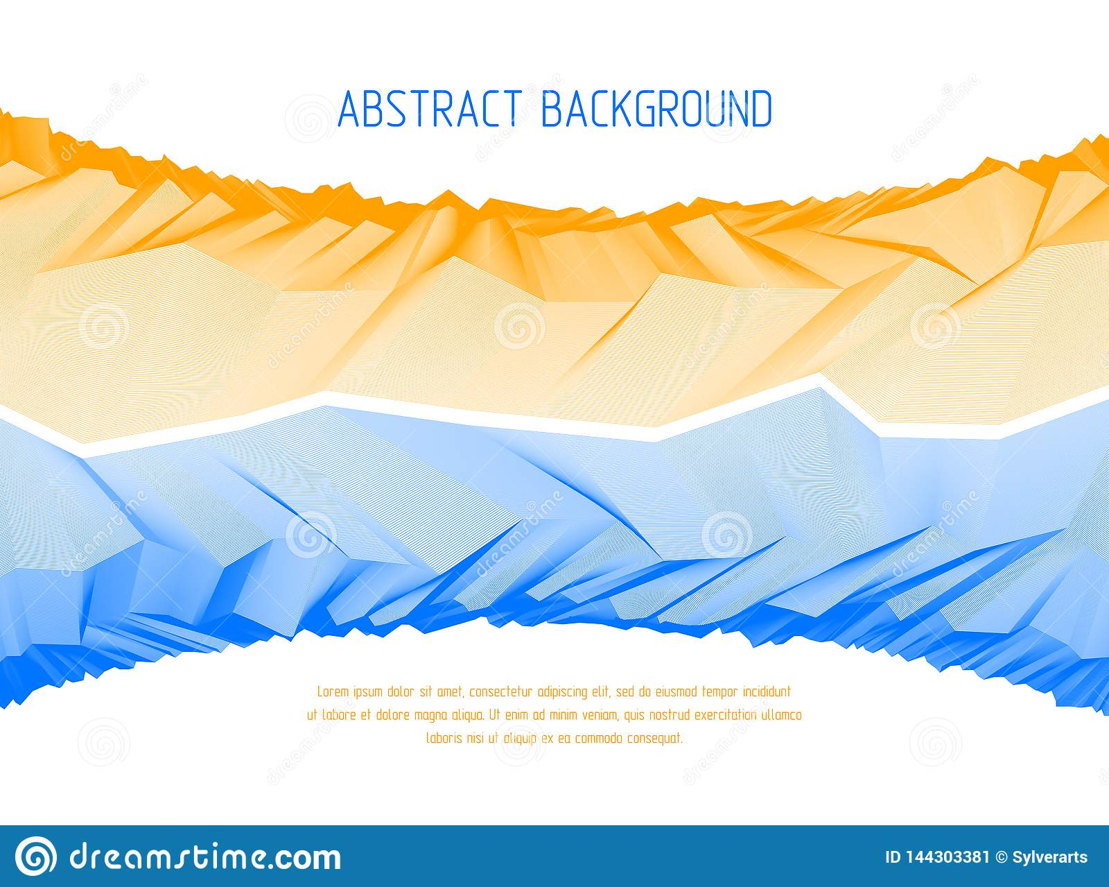 与意想不到的宇宙行星风景,科幻几何线性地形表面的线艺术3d抽象传染媒介背景