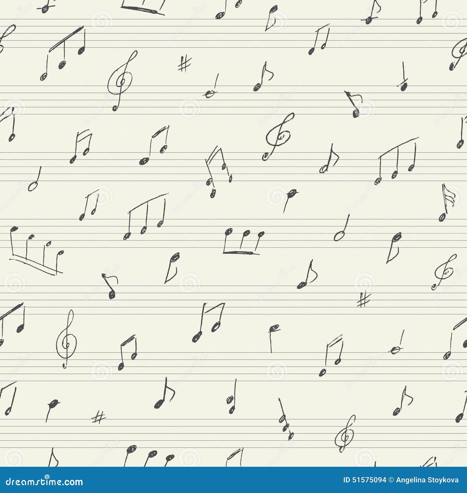 与手写的音符的音乐无缝的样式