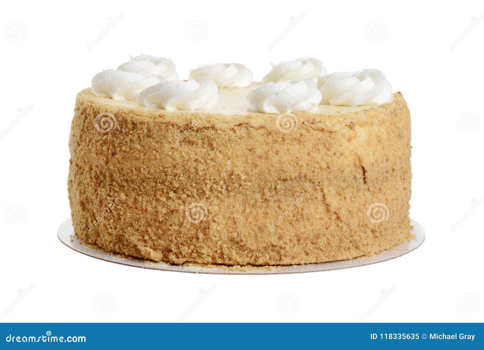 与打好的奶油的被隔绝的曲奇饼碎屑蛋糕