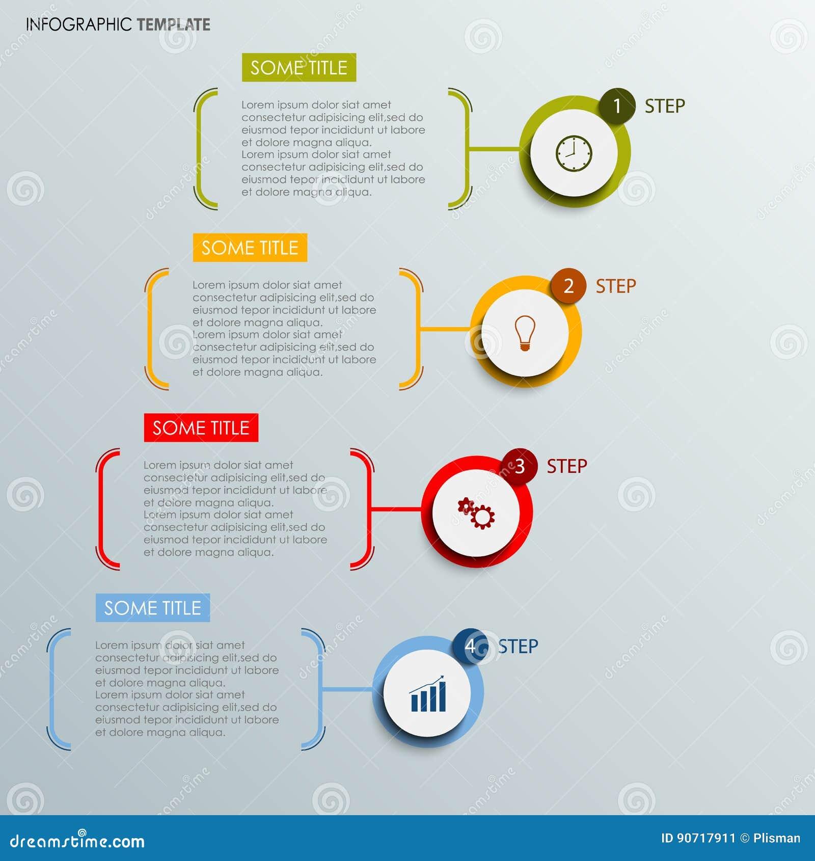 与抽象回合的信息图表标记模板