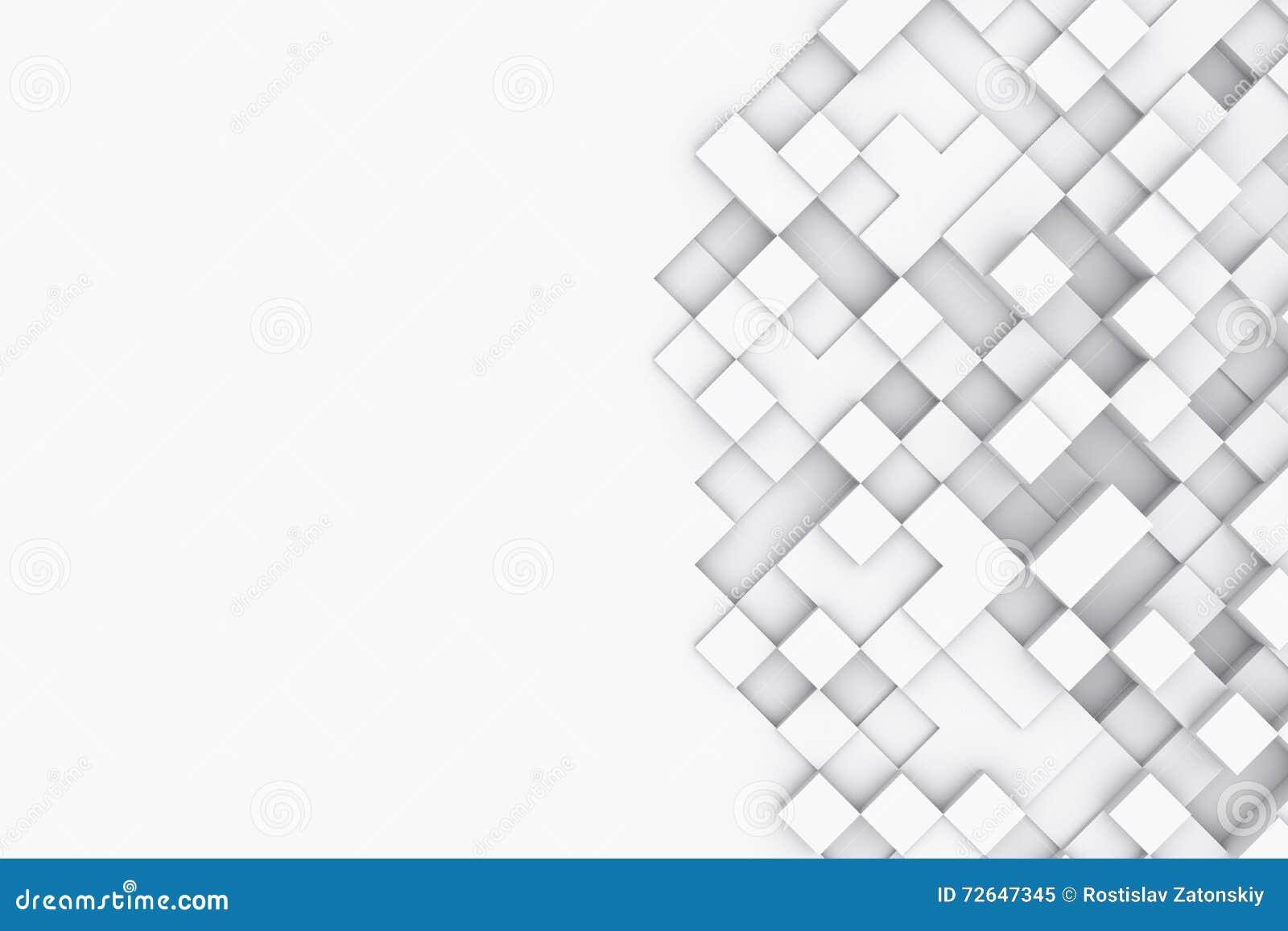 与抽象立方体的背景 3d例证