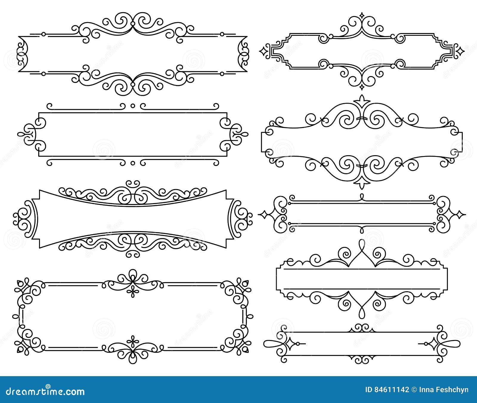 与拷贝空间的传染媒介时髦线性框架文本的-婚礼邀请设计模板-装饰背景