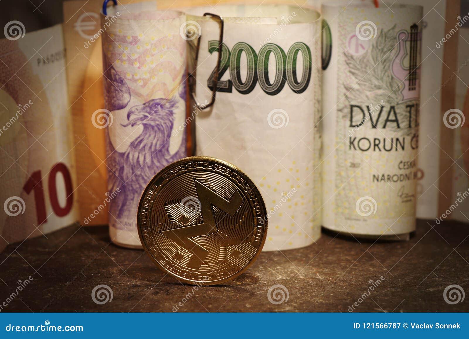 与捷克钞票的金子cryptocurrency