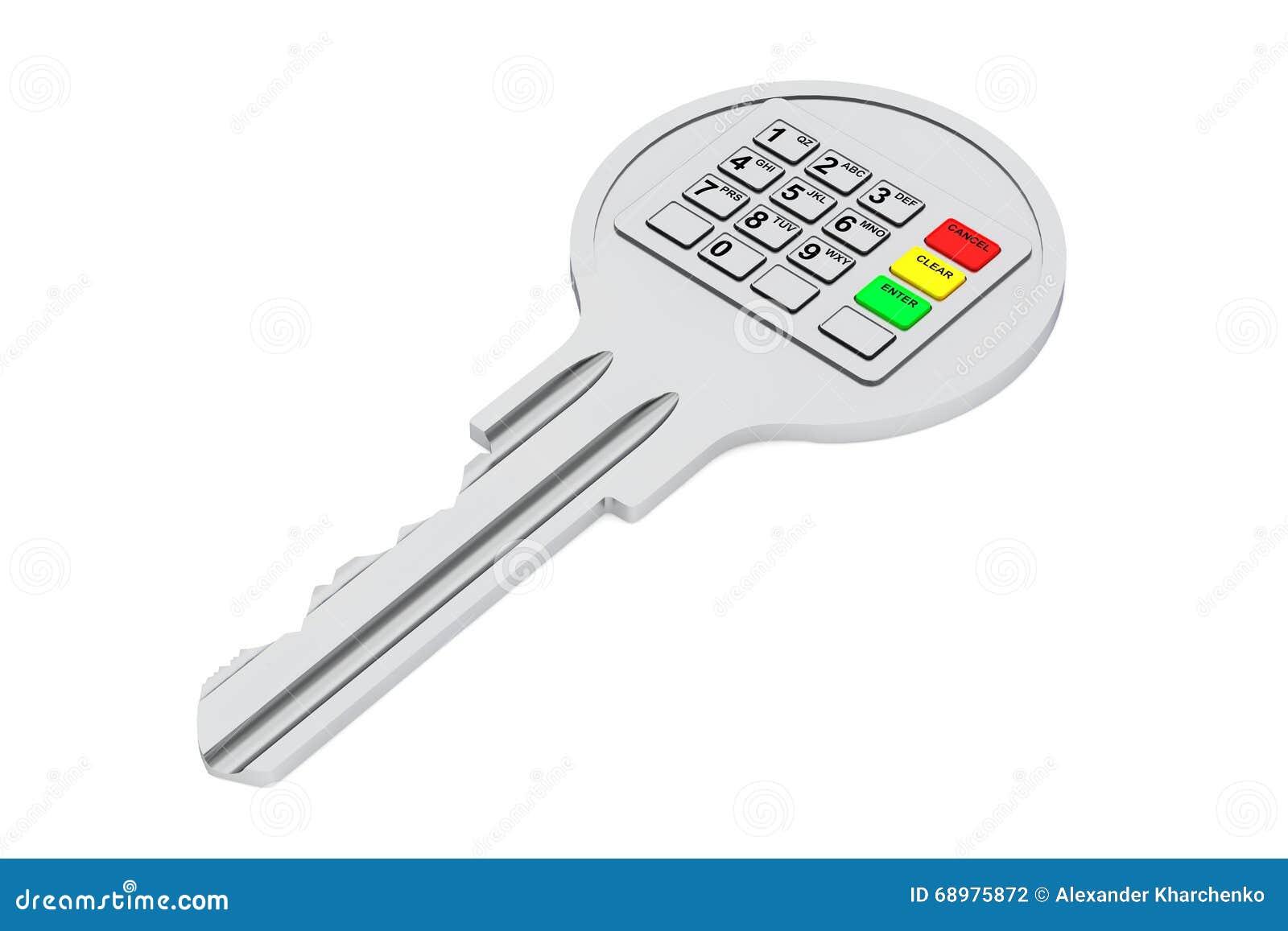 与数字式键盘的钥匙