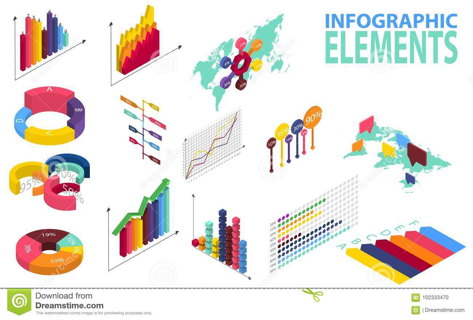 与数据象、世界地图图和设计元素的等量样式infographics