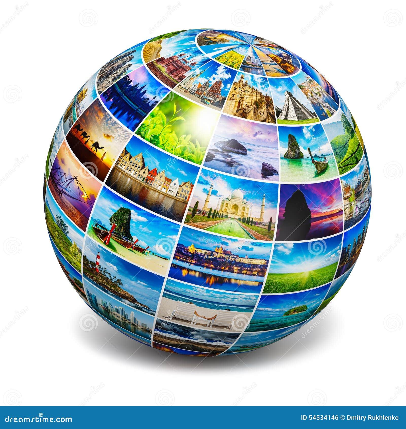 与旅行照片的地球
