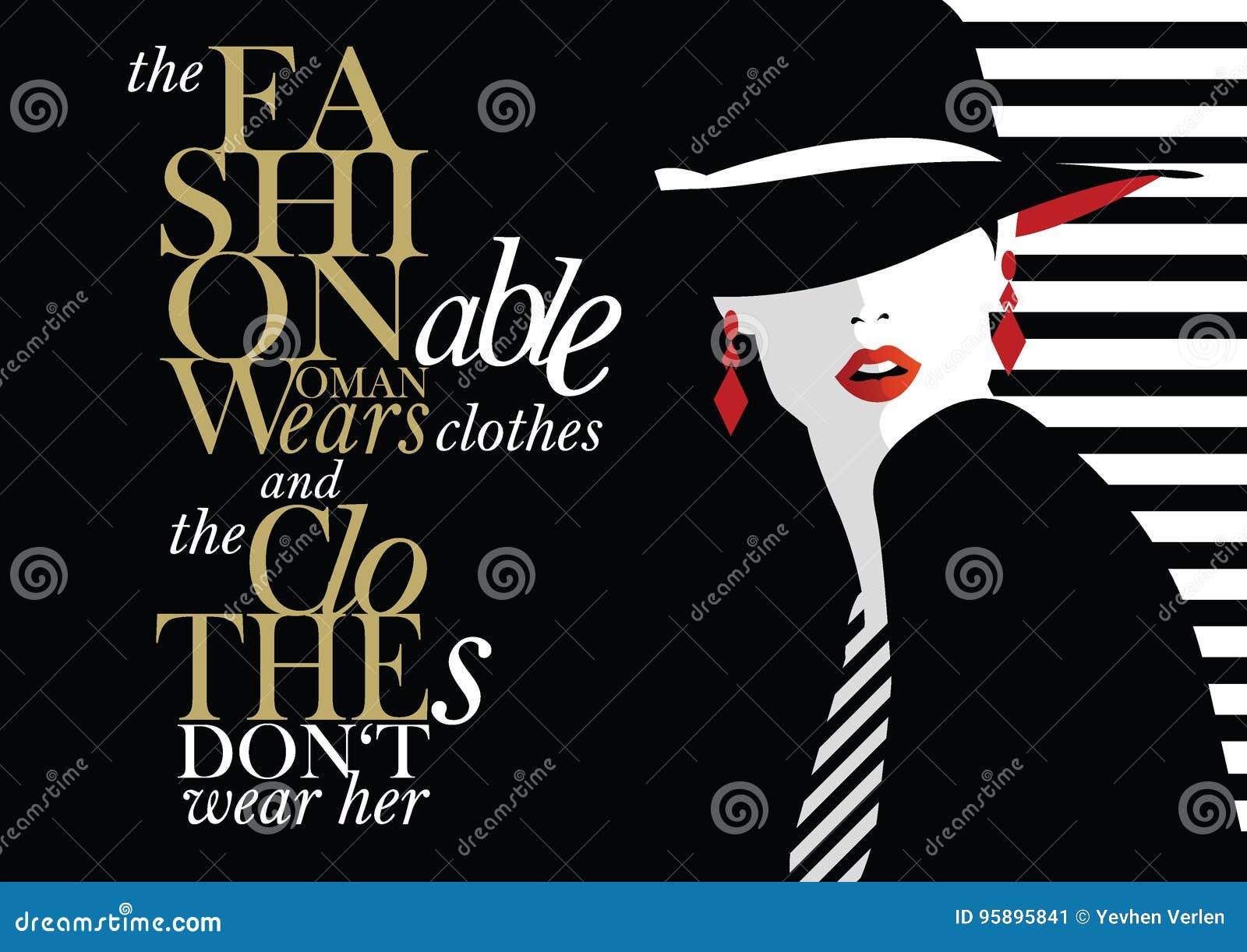 与时尚妇女的时尚行情