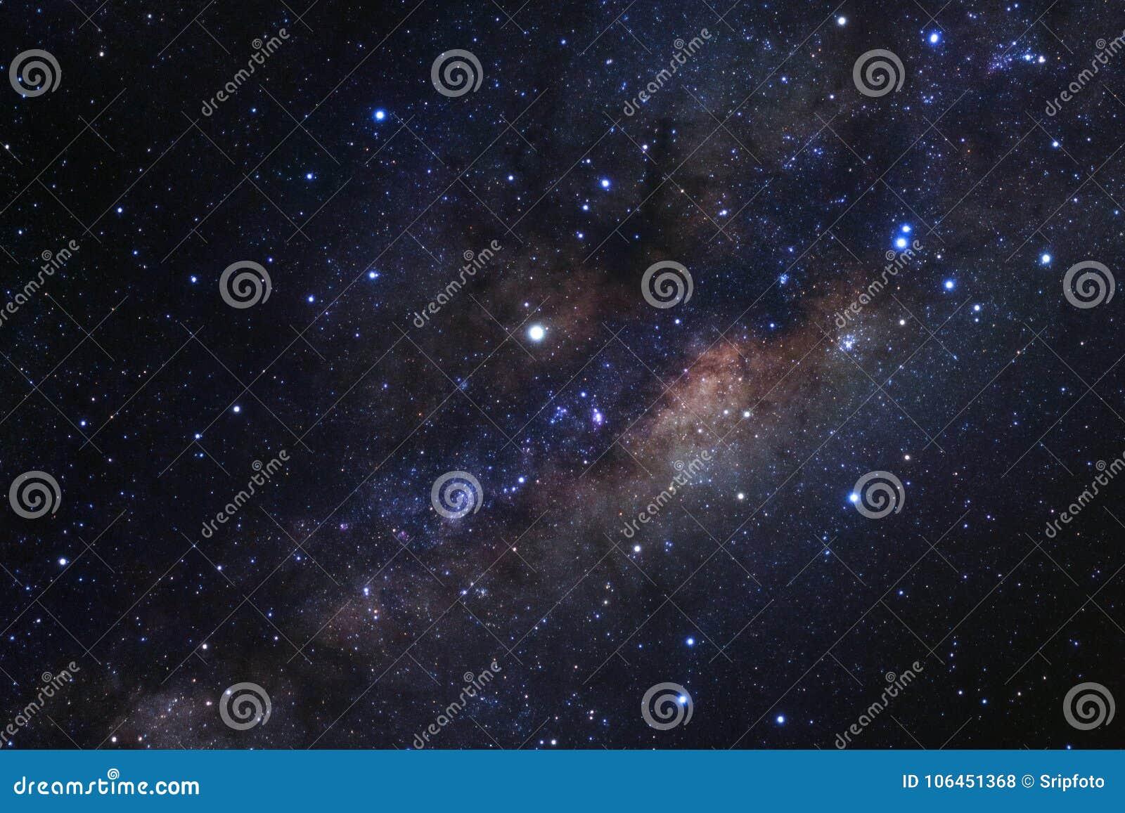 与星的银河星系和空间在宇宙拂去灰尘