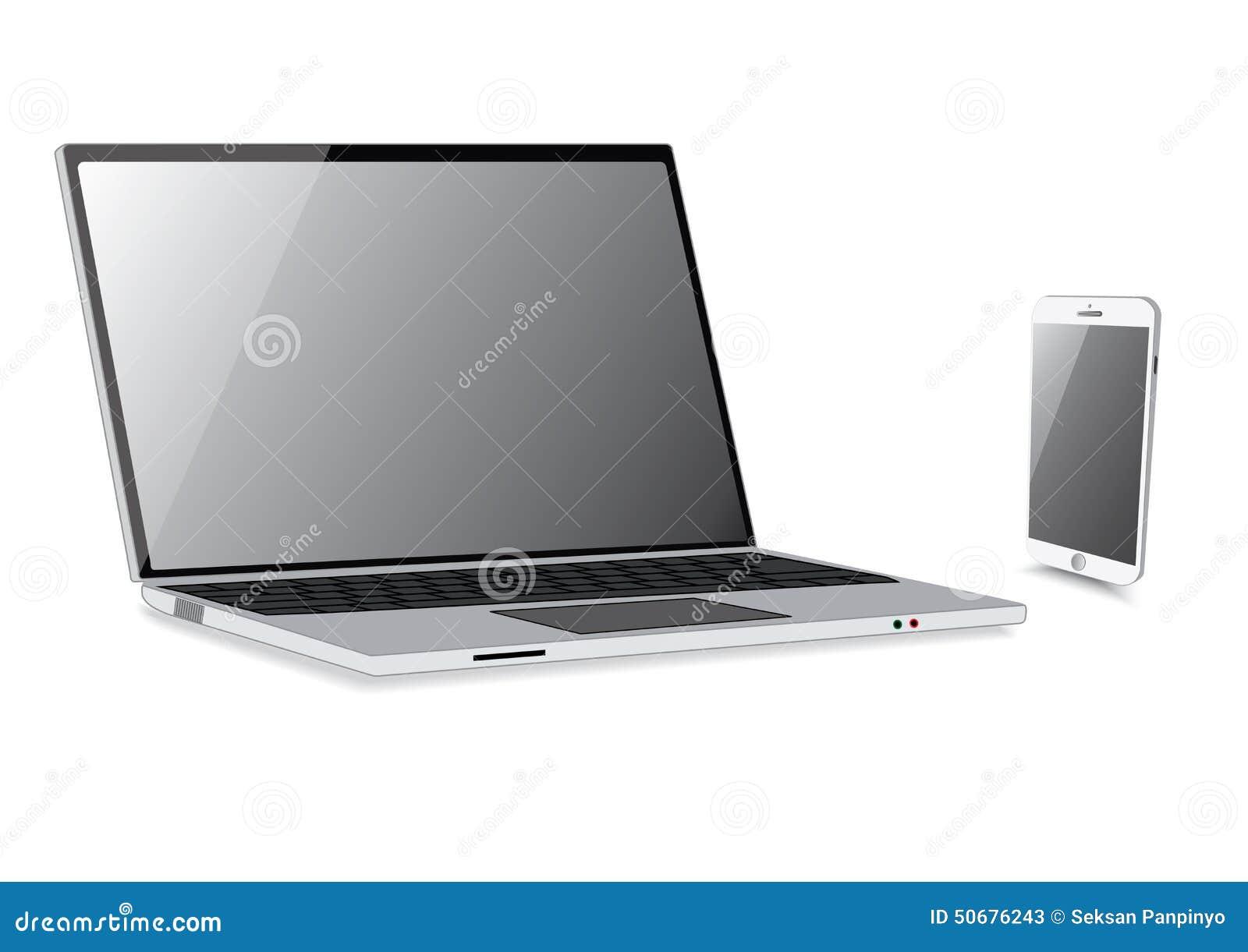 Download 与智能手机孤立的膝上型计算机隔离 向量例证. 插画 包括有 商业, 关键字, 显示, 数字式, 投反对票 - 50676243